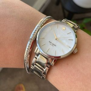 Kate spade silver watch and bangle
